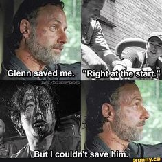 the walking dead / glenn and rick / andy and steven Best Tv Shows, Best Shows Ever, Favorite Tv Shows, Walking Dead Quotes, Fear The Walking Dead, Chandler Riggs, Twd Memes, Dead Pictures, Glenn Rhee