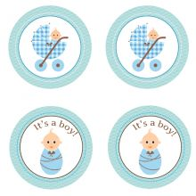 Baby boy circular toppers