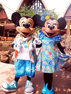 good vacation Mickey with Minnie