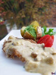 Рецепта - свинско филе с моцарела сос