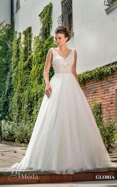 GLORIA - MS Moda - Evita Wedding Dresses, Fashion, Bride Dresses, Moda, Bridal Gowns, Fashion Styles, Weeding Dresses, Wedding Dressses, Bridal Dresses