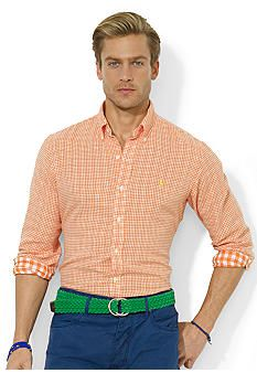 Polo Ralph Lauren Custom-Fit Double-Faced Checked Sport Shirt
