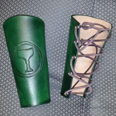 Fileteado de encargo brazales protectores de brazo para LARP