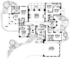 Floor Plans AFLFPW09957 - 1 Story Mediterranean Home with 5 Bedrooms, 4 Bathrooms and 2,678 total Square Feet