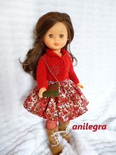 ANILEGRA COSE PARA NANCY Doll Clothes Patterns, Clothing Patterns, Wellie Wishers, Nostalgia, Crochet, Fashion, Nancy Doll, Baby Doll Clothes, Communion Dresses