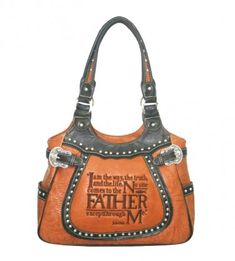 188facfaf05 Montana West John 14:6 Embroidered Bible Verse and Buckles Satchel. Find it  exclusively at famouswestern.com