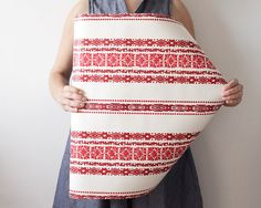 Vintage Wallpaper Roll  Ca 1950s Red and White by smilemercantile, $53.00