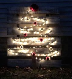 Though I'm not a winter lover, a snow lover, or any kind of cold lover, I DO love Christmas time. Pallet Christmas Tree, Christmas Tree Pattern, Christmas Lights, Christmas Time, Christmas Crafts, Christmas Decorations, Homemade Christmas, Christmas Ideas, Pallet Tree