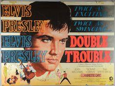 Double Trouble = Elvis Presley (1967) British Quad film poster,