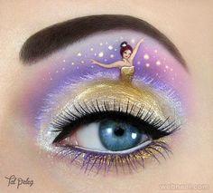 princess eye makeup, body art