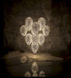 VG Arabesque Lightfall Egg (2) - Watch VG LIGHTING catalogue on Issuu ► http://issuu.com/vgnewtrend/docs/vg_lighting_2014 - #homedecor #home #decor #interiordesign #interior #design #lightingdesign #chandeliers #pendantlamps #pendantlighting #lights #lamps #arabesque #lighting #madeinitaly