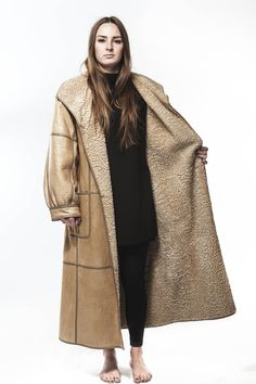 1980's Vintage Persian Lamb Full Length Leather Coat Switch your Mood and Switch your Coat ! ALL in ONE full length Super Lengthy Coat One Side is Persian Lamb...switch it up to a TOTALLY KEWL Seamed