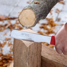 Mora Farrier Knife... Great for batoning and turning bigger wood into smaller wood! Protect your favorite survival knife from unnecessary abuse during battening with this little beast! Great lightweight and compact alternative for a hatchet or axe for making kindling!