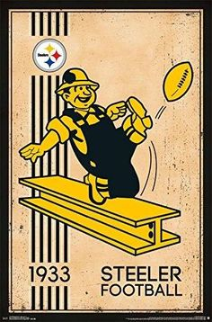 Pittsburgh Steelers Vintage Logo 22x34 Football Poster