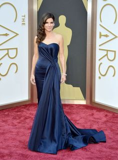 Sandra Bullock in Alexander McQueen With Lorraine Schwartz Jewels - 2014 Oscars - CelebMafia