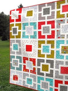 Apple Crate ~ Great quilt on etsy. Love the colors and design!