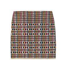 Gryphon - Embroidered cotton mini skirt, $345