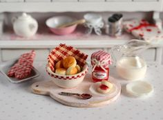 cuteinminiature | Miniature Strawberry Jam and Biscuit Set by CuteinMiniature…