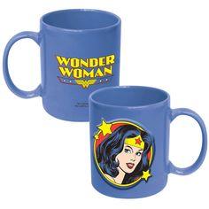 DC Wonder Woman Embossed Logo 20 oz Ceramic Mug