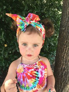 Tie Dye Crop Top Baby Halter Top  Baby Outfit by NeAccessory