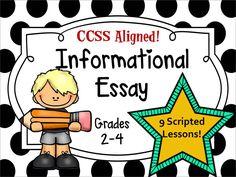 Grades 2-4 Write an Informational Essay that follows Lucy Caulkins Writers' Workshop!