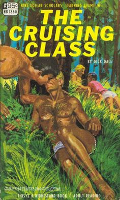 """Pulps like this served to both titillate readers and to suggest romantic possibilities for gay men in semi-private places like parks. This association of male homosexuality with public spaces was part of the """"lavender scare."""""""