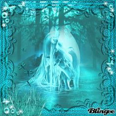 turquoise fantasy horse Picture #132261284   Blingee.