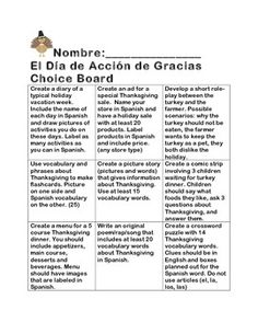 Free dia de accion de gracias sopa de letras product from this choice board offers nine differentiated tasks for students to complete using thanksgiving vocabulary you fandeluxe Gallery