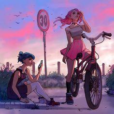 Power couple —Ilse Harting - Experimental illustration I worked on the past. Cartoon Cartoon, Cartoon Kunst, Cartoon People, Cartoon Girls, Anime Girls, Art And Illustration, Friends Illustration, Art Inspo, Kunst Inspo