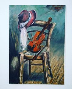 Small Canvas Paintings, Easy Canvas Painting, Violin Painting, Black Art Painting, Cow Art, Beautiful Paintings, Painting Inspiration, Watercolor Paintings, Art Drawings