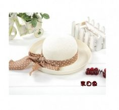 Graceful Dot Bowknot Embellished Sunhat Ivory Sun Hats, Dots, Ivory, Products, Stitches, Sombreros De Playa, The Dot, Gadget, Polka Dots