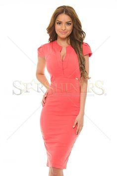 PrettyGirl Costly Coral Dress