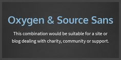 10 More Google WebFont Combinations - Oxygen and Source