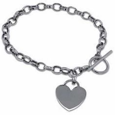 White Gold Designer Bracelet Jewelry Days. $459.00. Designer Style Charm Bracelet. Tiffany Design. With Toggle Lock. Chain is 5.1mm in width, Pendant is 25.3mm width. 14K White Gold, 6.1 grams