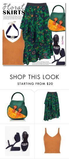"""""""The Perfect Summer Floral Skirt"""" by svijetlana ❤ liked on Polyvore featuring Brooks Brothers, floralskirt, polyvoreeditorial and lovenewchic"""