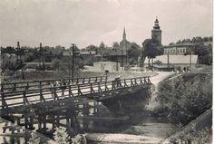 Skoczów: kiedyś i dziś. Most na Wiśle