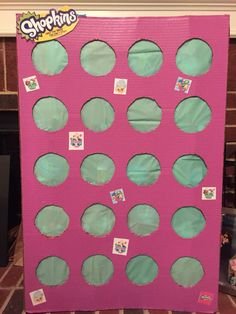 Shopkins punch box for Amelia's birthday
