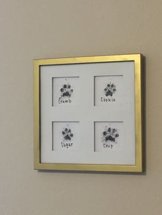 Paw Print Crafts, Paw Print Art, Dog Crafts, Animal Crafts, Wall Art Prints, Paw Prints, Do It Yourself Decoration, Dog Home Decor, Animal Room