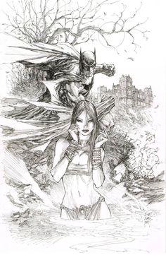 Batman and Talia by Marc Silvestri