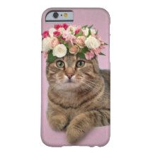 Cute cat with flowers Iphone 6 case