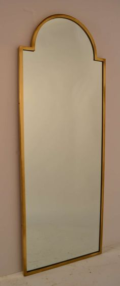 Taylored Brass Frame Italian Mirror | From a unique collection of antique and modern wall mirrors at http://www.1stdibs.com/furniture/mirrors/wall-mirrors/