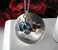 Stainless Steel 1.25 Hand Stamped MEGA MOM or by StampedByTheHeart, $38.00