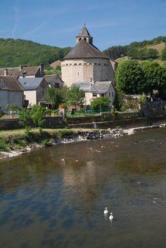 Sainte Eulalie d'Olt (Les Plus Beaux Villages de France), Aveyron, Midi-Pyrenees_ France Beaux Villages, France, Mansions, House Styles, Countries, Manor Houses, Villas, Mansion, Palaces