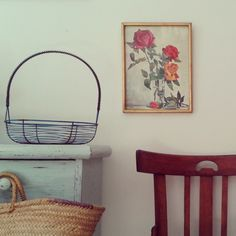 I love saturdays #antiques #chairs #flowers #mint #kitchen #home