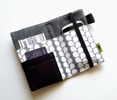 Modern Grey and White iPhone wallet iPhone case ipod case iphone 5 case cell phone wallet grey and black camera case womens wallet neutral