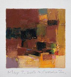 May 7 2015 Original Abstract Oil Painting by hiroshimatsumoto