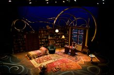 Freud's Last Session. Theatrical Outfit. Set designers Isabel & Moriah Curley-Clay, Lighting Designer Christopher P. Kettrey.
