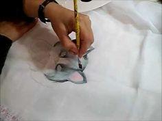 Pintura em Fraldas 1 - Gatinho - How to paint cat