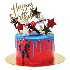 Spiderman Torte, Spiderman Birthday Cake, Superhero Cake, Spiderman Pasta, Fondant Cakes, Cupcake Cakes, Cake Designs For Kids, Gateau Baby Shower, Avenger Cake