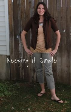 T-shirt to cardigan - Keeping it Simple - Must attempt this one at least once